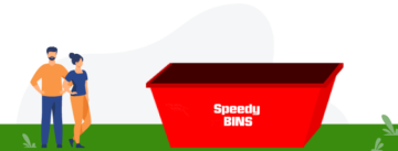 image of Speedy Bin's 8 Cubic Metre Skip Bin for Green Waste