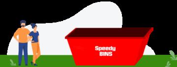 image of Speedy Bin's 8 Cubic Metre Skip Bin for Green Waste